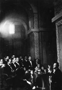 Концерт капеллы под управлением А. Юрлова  в новгородском  Софийском соборе,  1970 г.