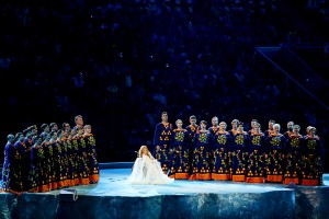 На церемонии открытия XI зимних Паралимпийских игр. 2014
